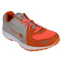 Bostan Men Gray  Orange Shoes