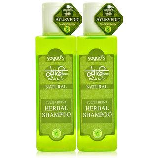 Khadi Vagad's Tulsi  Heena Herbal Shampoo
