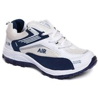 Sports Cool Air White And Blue Shoes