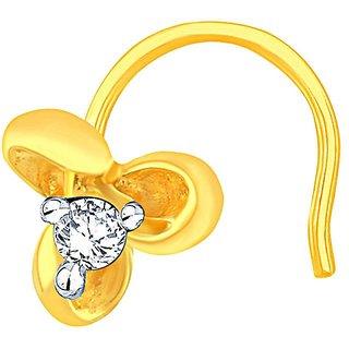 Sangini 18K Yellow Gold Diamond Nosepin