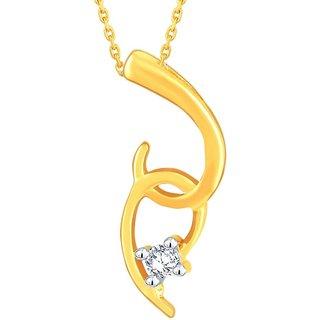 Asmi Diamond Pendant ADP00384SI-JK18Y