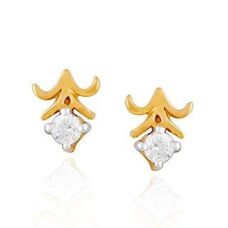 Me-Solitaire Diamond Earrings DE325SI-JK18Y