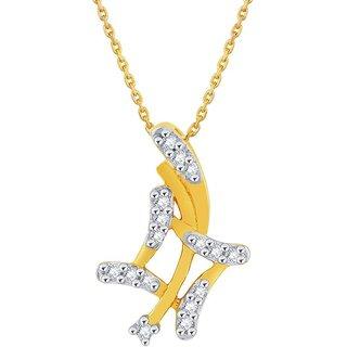 Asmi Diamond Pendant PP12903SI-JK18Y