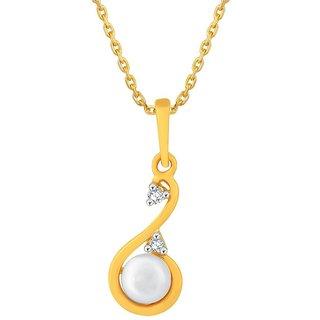 Asmi Diamond Pendant PP14103SI-JK18Y