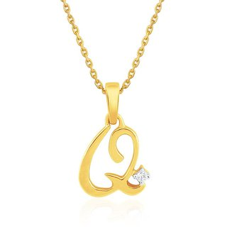 Saumya 18K Yellow Gold Diamond Pendant