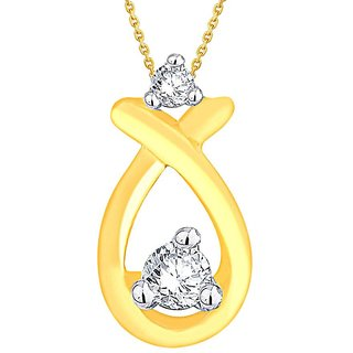 Nirvana Diamond Pendant HIP00043SI-JK18Y