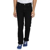 INTEGRITI Black Solid Regular Fit Men's Jeans