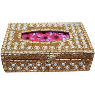 Pearl Tissue box - Handcrafted