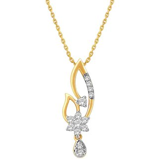 Nakshatra 18K Yellow Gold Diamond Pendant