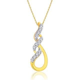 Gili Diamond Pendant GPL322SI-JK18Y
