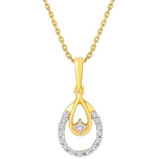 Asmi Diamond Pendant PRA2P3519SI-JK18Y