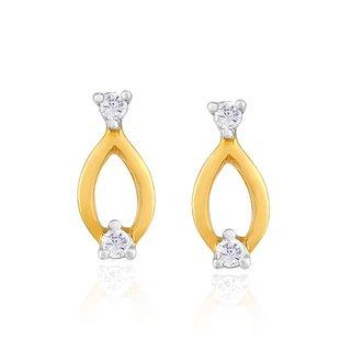 Nirvana Diamond Earrings PE14508SI-JK18Y