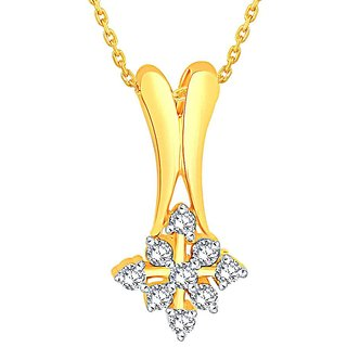 Shuddhi 18K Yellow Gold Diamond Pendant