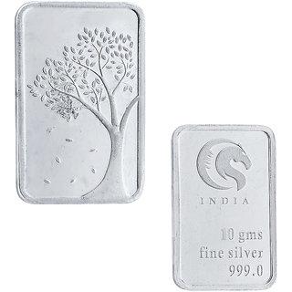 Sri Jagdamba pearls 10 grams 99.9 silver Bar coin