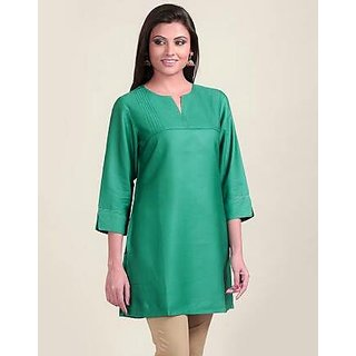 cotton kurti sea green
