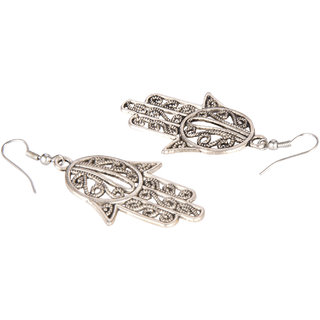 Diva Walk silver hoop earrings -00017