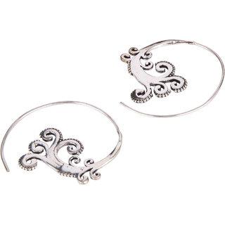 Diva Walk silver hoop earrings -00039