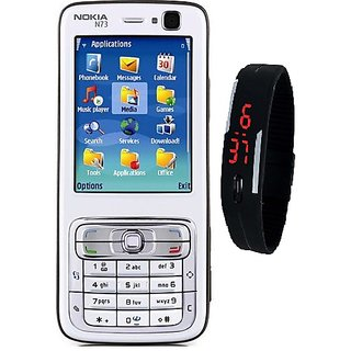 Nokia N73  /Good Condition/Certified Pre Owned(6 Month WarrantyBazaar Warranty) + Digital Watch