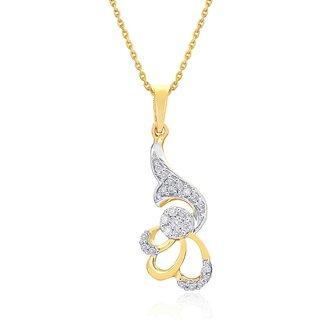 Nirvana 18K Yellow Gold Diamond Pendant