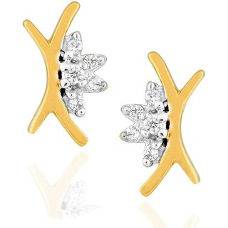 Asmi Diamond Earrings PE18568SI-JK18Y