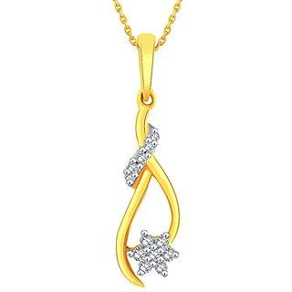 Asmi Diamond Pendant PP19596SI-JK18Y