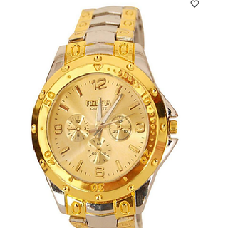 Rosra Golden Analog Casual Watch