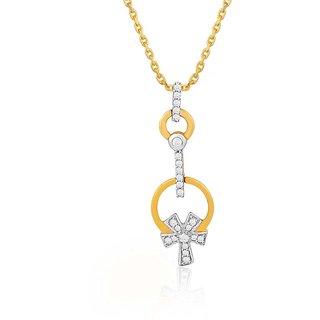 Asmi Diamond Pendant YPL036SI-JK18Y