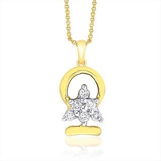Sangini 18K Yellow Gold Diamond Pendant