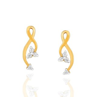 Asmi Diamond Earrings PE18508SI-JK18Y