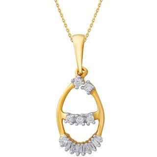 G'Divas Diamond Pendant DDP03029SI-JK18Y