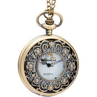Bromstad Vintage Metal Pocket Watch Chain 1004BW Singapore Movt. Sony Japan Battery 2 Yeas I Year Warranty With Box