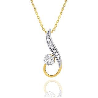 Nirvana Diamond Pendant NR74135SI-JK18Y