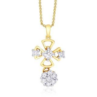 Shuddhi Diamond Pendant IDP00097SI-JK18Y