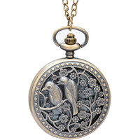 Bromstad Vintage Metal Pocket Watch Chain 1006BW Singapore Movt. Sony Japan Battery 2 Yeas 1 Year Warranty With Box