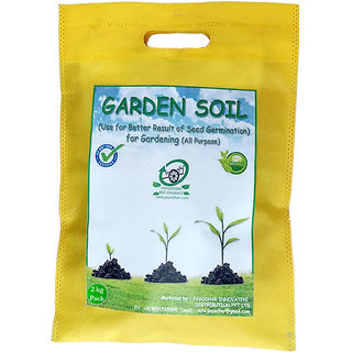PAYODHAR'S GARDEN SOIL(best soil mix for seedlings, potting soil) Gardening Pack of 2 Kg. (Use for Better Result of Seed