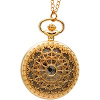 Bromstad Vintage IPG (Gold) Plating Metal Pocket Watch Chain 1004GW1 Singapore Movt.  Sony Battery 2 YearLife+Box