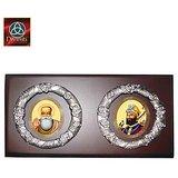 MDF Heritage Combo Frame - Guru Gobind Singh Ji & Guru Nanak Dev Ji