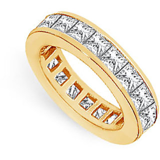Lovebrightjewelry Two & Half Carat 14K Yellow Gold & Diamond Eternity Band