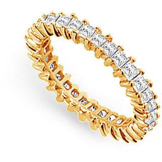 Lovebrightjewelry Modish Two & Half Carat 14K Yellow Gold & Diamond Eternity Band