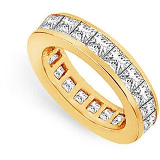 Lovebrightjewelry Three & Half Carat 14K Yellow Gold & Diamond Eternity Band