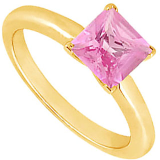 Lovebrightjewelry 14K Yellow Gold Pink Sapphire Ring-0.75 Ct
