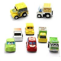 6pcs Mini Pull Back Car Set ( color may vary)