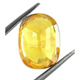 Fedput 7.15 Ratti yellow Sapphire pukhraj Stone