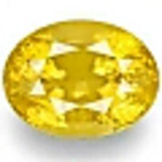 Fedput 9.25 Ratti yellow Sapphire pukhraj Stone