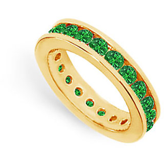 Lovebrightjewelry Classic 14K Yellow Gold & Emerald Eternity Band 2.00 Ct