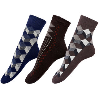 By The Way Ankle Length Men's Socks (Pair of 3)