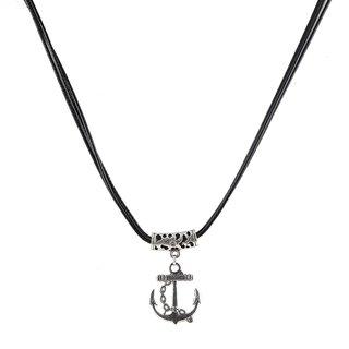 The99Jewel Vintage Silver Pendant with Black Thread - AAB0416