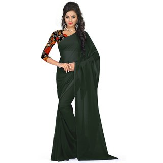 sudarshansilk Black Georgette