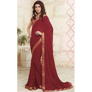 sudarshansilk Red Raw Silk