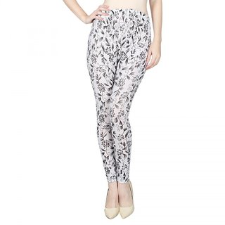 Vloria Color Leggings Regular Wear-Black  White